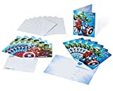 Marvel Avengers Invite and Thank You Combo, 8 Pack, Party Supplies