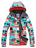 APTRO Women's Printed Ski Jacket Windproof Waterproof Moutain Jacket #15 Size XS