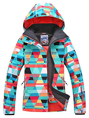 APTRO Women's High Windproof Technology Colorfull Printed Ski Jacket Style #15 Size S (Downhill Skis Womens)