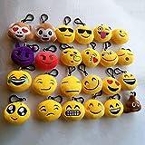 New 24 style Emoji toys for Kids Emoji Plush Keychains Mixed Emoji Keyrings B...