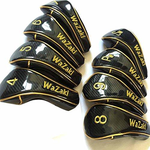 Japan WaZaki Black Oil Finish WL-IIs 4-SW Mx Steel Hybrid Irons Golf Club Set + Headcover