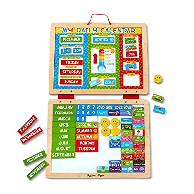 Melissa & Doug See & Spell & Magnetic Daily Calendar Bundle: Toys & Games
