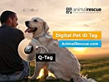 AnimalRescue.com Q-Tag QR Code Pet ID Tag for Dogs