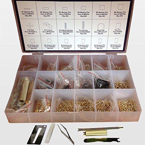 Rekey Tool (Kwikset Keyway Rekey Locksmith Rekeying Pin Key Tool Key Kit - 200 Pieces)