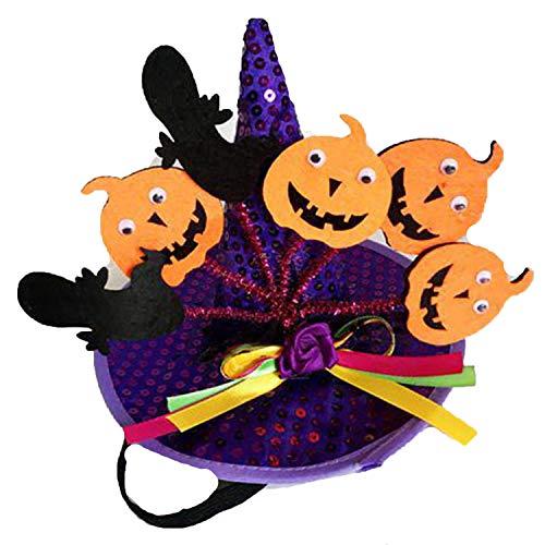 Funny Cute Pet Costume Cosplay Spider Pumpkin Witch Cap Hat for Cat Kitten Halloween Xmas Fancy -