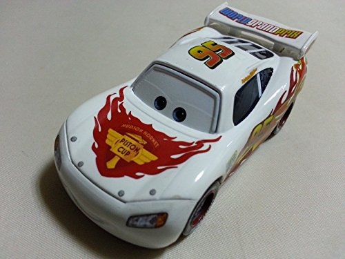 Mattel Disney Pixar Cars White Lightning McQueen Diecast Toy Car 1:55 Loose - Ferrari Name First