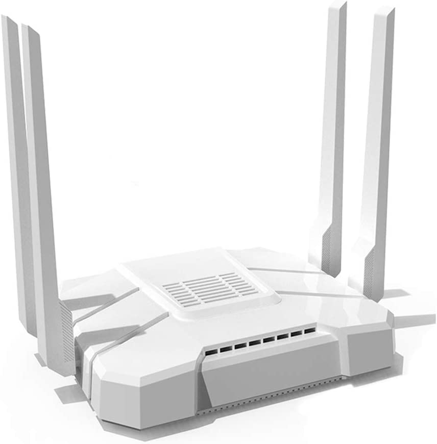 KuWFi AC1200Mbps 4G LTE WiFi Router 5GHz Gigabit Dual Band Wireless Internet Smart OpenWRT WiFi Routers with SIM Card Slot for Home/Office with External Antenna for USA/Canada/Mexico sim Card Network