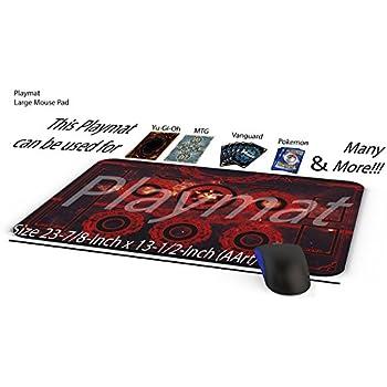 Amazon Com Card Fight Vanguard Red Circles Playmat Cardfight