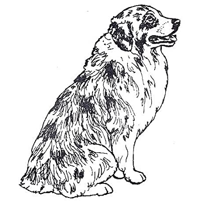 "Dog Rubber Stamps - Australian Shepherd-2F Size: 1-3/4"" Wide X 2-1/4"" Tall: Arts, Crafts & Sewing"