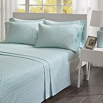 Superb Comfort Spaces   Ultra Soft And Cozy Printed Geometric 100% Cotton Flannel  Sheet Set