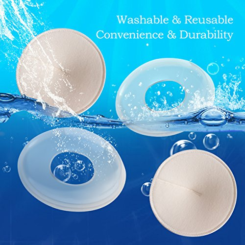 Breast Shells & Milk Saver for Collect Breast Milk and Protect Sore Nipples, Nursing Pads Washable Nursing Cups and Breastfeeding Pad are Super Soft, Reusable and Hypoallergenic by vogpo (Image #4)