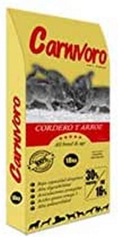 CARNIVORO Cordero y Arroz 15 kg
