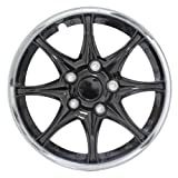 black 16 inch wheel covers - Pilot WH522-16C-B Universal Fit Black and Chrome  16 Inch Wheel Covers - Set of 4