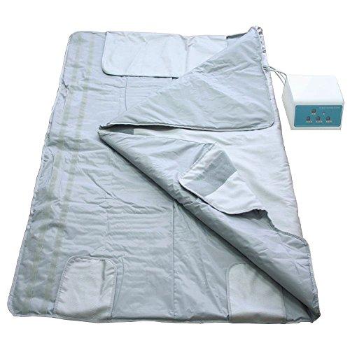 Gizmo Supply Digital Far-Infrared (FIR) Heat Sauna Blanket with 3 Zone Controller (Far Infrared Sauna Therapy)