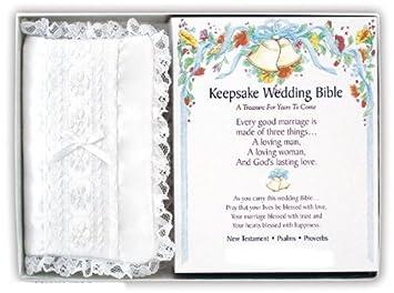 Amazon com : Keepsake Wedding Bible - Mini Bride's Bible