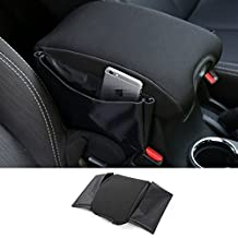 Highitem Black Multifunctional Cotton Car Armrests Pads Cover Center Console Armrest Seat Box Pad for Jeep Wrangler 2007Up