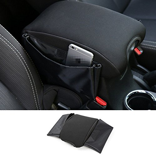 Highitem Black Multifunctional Cotton Car Armrests Pads Cover Center Console Armrest Seat Box Pad for Jeep Wrangler 2007Up