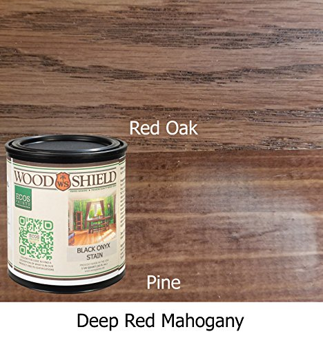 ECOS Paints 00817292022531 Woodshield Interior Wood Stain, 1 quart, Deep Red - Wood Mahogany Deep