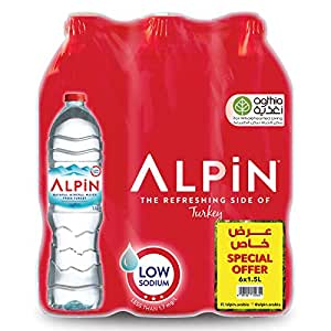 Alpin Shrink Low Sodium Mineral Water Bottles - 1.5L, Pack of 6