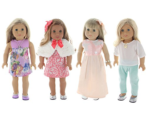 Holiday 4 Outfit Package, Doll Clothes Set, fits American Gi