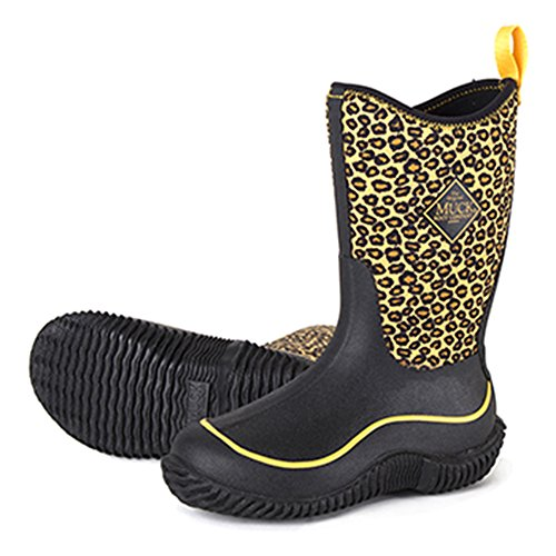 Kids' Muck Hale Waterproof Rubber Boots, ORANGE CHEETAH, 7 Toddler by Muck Boot