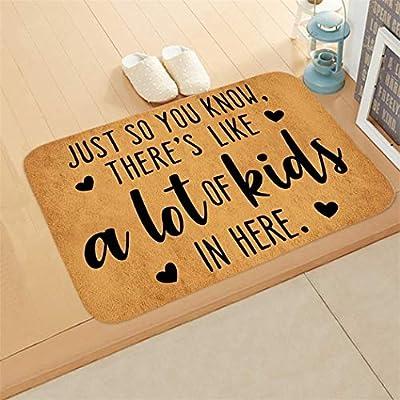 Eubell Welcome Mat Non-Slip Letter Print Doormat Kitchen Door mat (23.6 in X 15.7 in) for The Entrance Way Indoor Rug