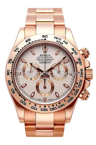 Rolex Daytona 40 Pink and black Dial 18k Rose Gold Mens Watch - Rose Watches Rolex Gold