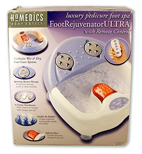 Homedics Foot Rejuvenator Ultra Luxury Pedicure Foot Spa with Remote Control ()