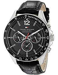 Men's 1791117 Sophisticated Sport Watch With Black Leather Band