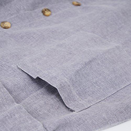 b0576d141e Amazhiyu Womens Linen Button Front Maxi Skirts with Pockets Elastic Waist A Line  Irregular Overalls Skirt