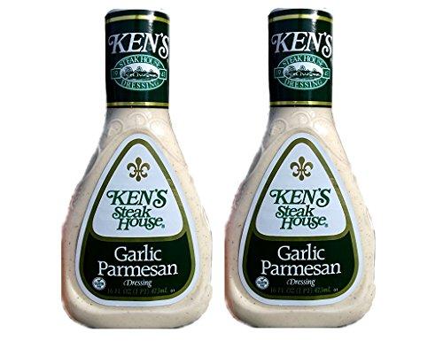 Ken's Garlic Parmesan Dressing (Pack of 2) 16 oz Bottles