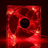 TX TXCCF12RD 12 cm Kırmızı Ledli Sessiz Şeffaf Kasa Fanı