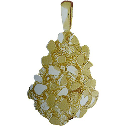 14K Yellow Gold Nugget Pendant - 39 mm (Nugget Yellow Gold 14k Pendant)
