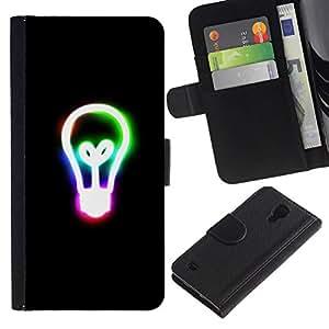 All Phone Most Case / Oferta Especial Cáscara Funda de cuero Monedero Cubierta de proteccion Caso / Wallet Case for Samsung Galaxy S4 IV I9500 // Recuerde Edison