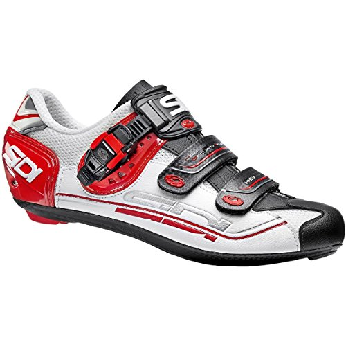 宮殿修道院略奪(シディ) Sidi Genius 7 Carbon Shoe メンズ ロードバイクシューズWhite/Black/Red [並行輸入品]