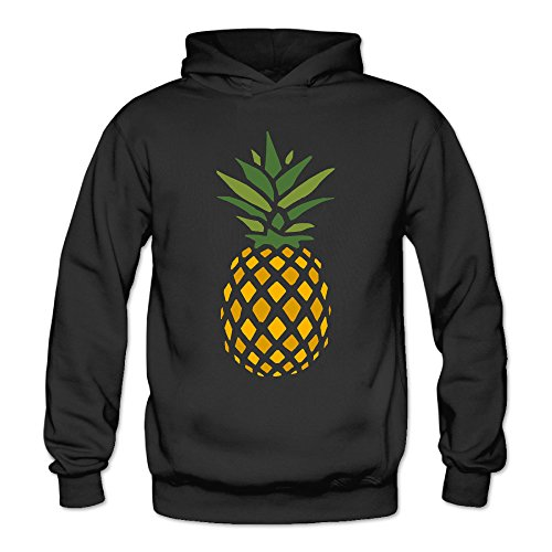 MARC Women's Creative Pineapple Right Down Hoodie Black Size - Certificates We Have Gift