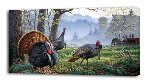 Turkey Huge - 4 Sizes - Wild Turkey CANVAS PRINT Wall Decor Art Giclee Animals Birds P176, Huge