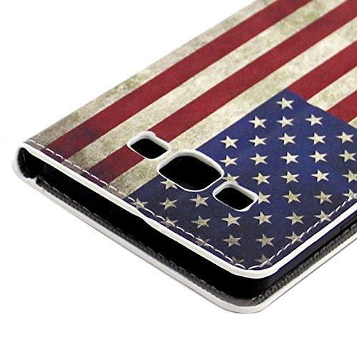Funda Iphone, Colorful Daisy patrón de flores horizontal Flip caja de cuero con el titular y ranuras de tarjeta para Samsung Galaxy A7 / A700F ( SKU : S-SCS-3771K ) S-SCS-3771N