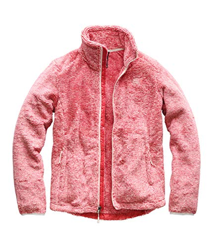 The North Face Women's Osito 2 Jacket Vintage White/Spiced Coral Stripe - Pink Top Fleece