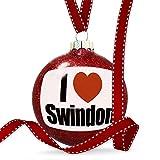 Christmas Decoration I Love Swindon region: South West England, England Ornament
