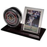 ACRYLIC HOCKEY PUCK AND CARD DISPLAY CASE HOLDER