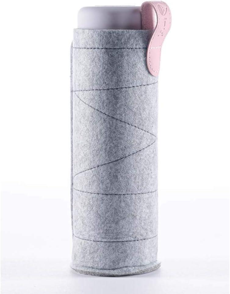 VitaJuwel Inu! Sleeve | Gris - Funda protectora para botellas de agua de vidrio