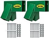 Safe-Kidz Wooden Swing Set Brackets :: Set of 2 Steel Swing Braces & Hardware & Instructions, Green