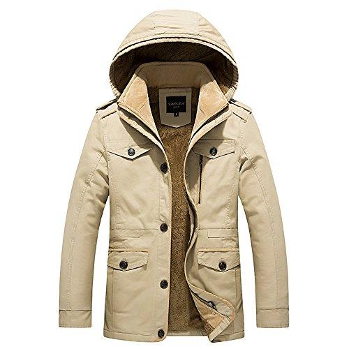 ASDSI-1 Vêtements De Printemps Et d'hiver en Coton pour Hommes Grande Taille Veste Longue Extérieure en Coton Manteau Veste Décontractée pour Hommes en Plein Air