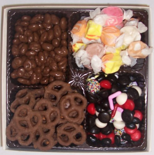 Scott's Cakes Large 4-Pack Nougat Taffy, Licorice Mix, Chocolate Pretzels, & Chocolate Rasins