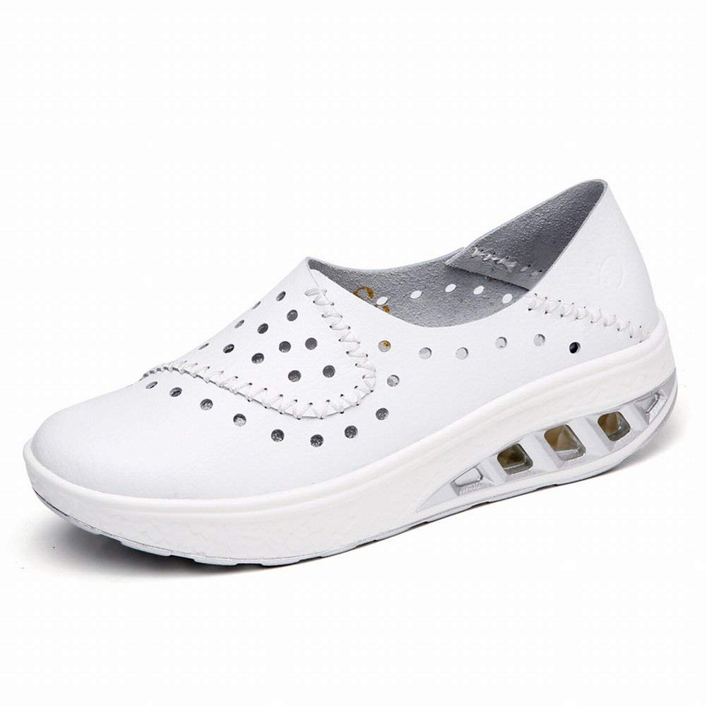 Fuxitoggo Allgleiches Lederne Schuhe des Allgleiches Tragen Tragen Tragen Schuhe die Schuhe Der Tendenzschuhe Beschuht Loch Faule Erbsen (Farbe   Schwarz Größe   42) 4b2be9