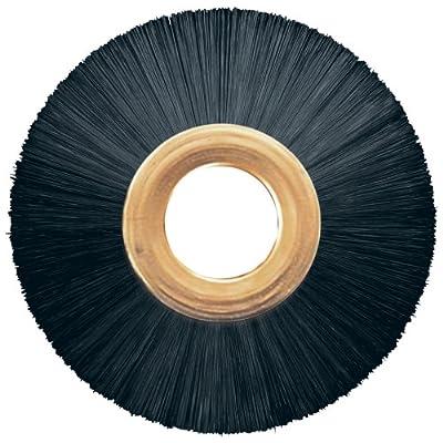 """PFERD 84343 Power Copper Center Non-Wire Wheel Brush, Nylon Bristles, 3"""" Diameter, 0.016"""" Wire Size, 1/2"""" Arbor, 20000 Maximum RPM, 1"""" Trim Length"""