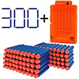 Vopa 300 Pcs Dart Refill Bullet for Nerf N-strike Elite Series Nerf Toy Gun + Extra Quick Reload Clip