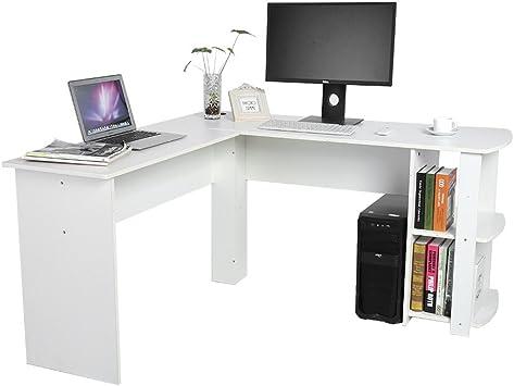 SKIESOAR - Mesa de Escritorio para Ordenador (Forma de L, para el ...