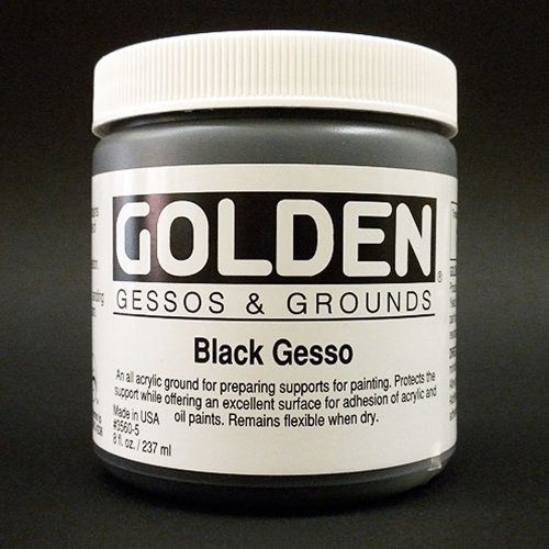 Golden Acrylic 16 Oz Black Gesso by Golden
